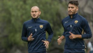 Carlos González y Nico Freire en entrenamiento