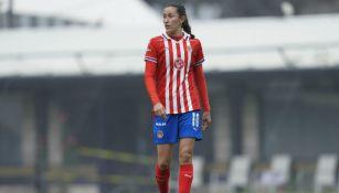 Tania Morales en acción con Chivas
