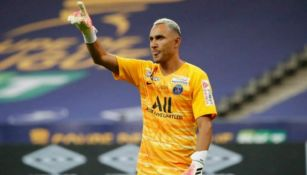 Keylor Navas en partido con PSG