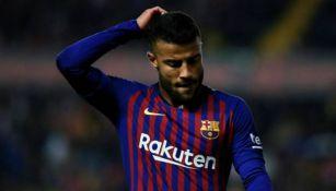 Rafinha en acción con Barcelona