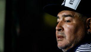 Diego Maradona, entrenador de Gimnasia y Esgrima La Plata
