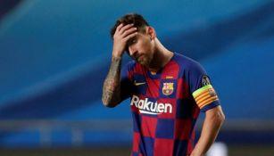 Messi en lamento de gol