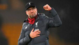 Klopp en partido con Liverpool