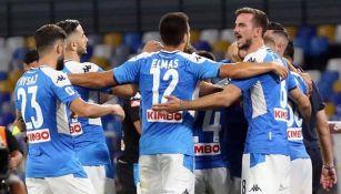 Jugadores del Napoli durante un partido