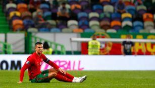Cristiano Ronaldo durante un partido con Portugal