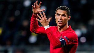 Cristiano Ronaldo durante un duelo con Portugal