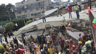 Los escombros del Colegio Rébsamen