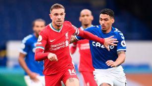 Así se disputó el balón en el Liverpool vs Everton