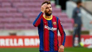 Gerard Piqué lamenta una derrota del Barcelona