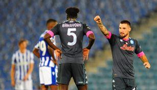 Matteo Politano festeja una anotación ante la Real Sociedad