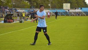 Pedro Delvalle durante un partido con el Guaireña FC