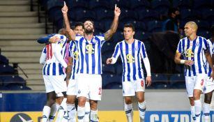 Jugadores del Porto celebrando un gol