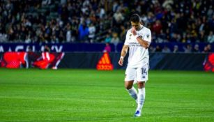 Javier Hernández en lamento con Galaxy