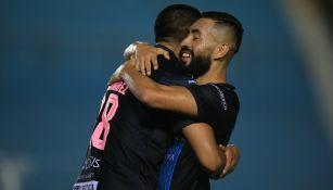 Cancún FC en festejo de gol