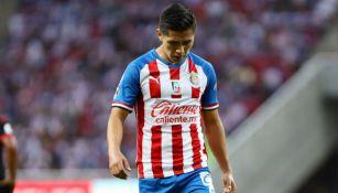Dieter Villalpando se lamenta tras un juego de Chivas