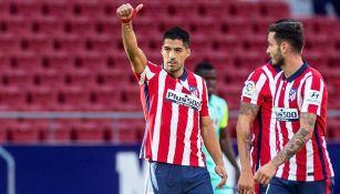 Luis Suárez, durante un juego del Atlético de Madrid