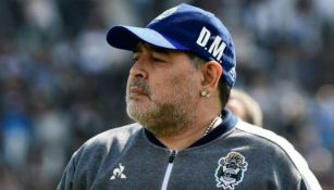 Maradona en partido con Gimnasia