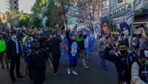 Apoyo a Diego Armando Maradona en las calles