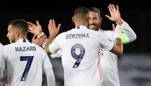 Benzema y Sergio Ramos anotaron para el Madrid