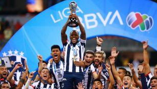 Rayados festejando el título del Apertura 2019