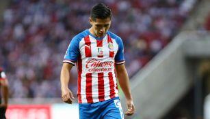 Dieter Villalpando durante un juego con Chivas