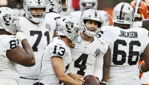 Raiders en partido de la NFL