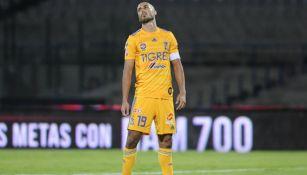 Guido Pizarro en lamento con Tigres
