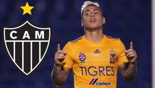Tigres: Eduardo Vargas firmará por dos años con el Atlético Mineiro