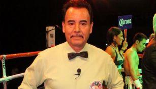 José Guadalupe García en una función de box