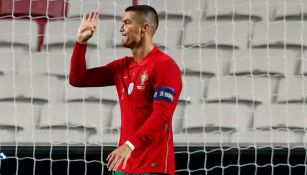 Cristiano Ronaldo luego de marcar gol con la Selección de Portugal