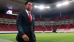 Mejía, previo a un partido de Chivas