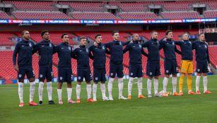 Jugadores de la selección inglesa en Wembley