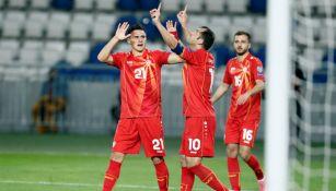 Macedonia del Norte en festejo