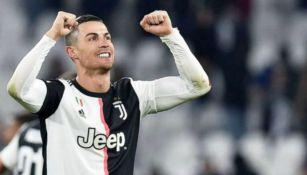 Cristiano Ronaldo en juego con la Juventus