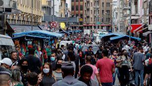 Habitantes brasileños en el centro de Sao Paulo
