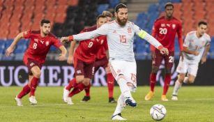 Sergio Ramos falló dos penales frente a Suiza