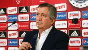 Jorge Vergara en un evento con Chivas