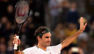 Federer festeja una victoria