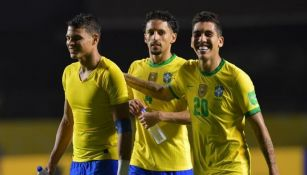 La selección de Brasil en su duelo más reciente