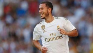 Eden Hazard en un partido con el Real Madrid