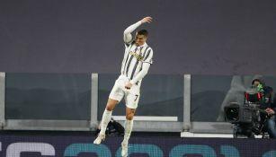 Cristiano Ronaldo en festejo con la Juventus