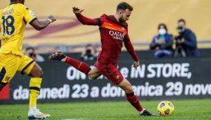 Borja Mayoral en acción ante Parma