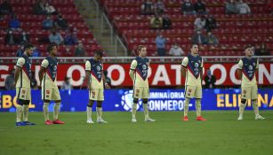 Jugadores del América previo al juego de Ida vs Chivas