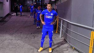 Domínguez antes del juego ante Tigres