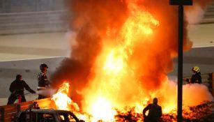 Gran Premio de Bahrein: Romain Grosjean sufrió espeluznante accidente