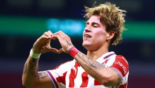 'Chicote' Calderón luego de anotar gol al América