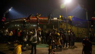 Afición de Pumas en CU previo a la Final ante León