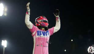 Sergio Pérez luego de ganar el GP de Sakhir