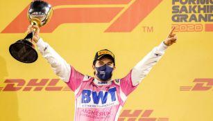 Checo Pérez tras conquistar el GP de Sakhir