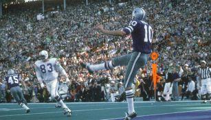 Ron Widby en un partido con Dallas